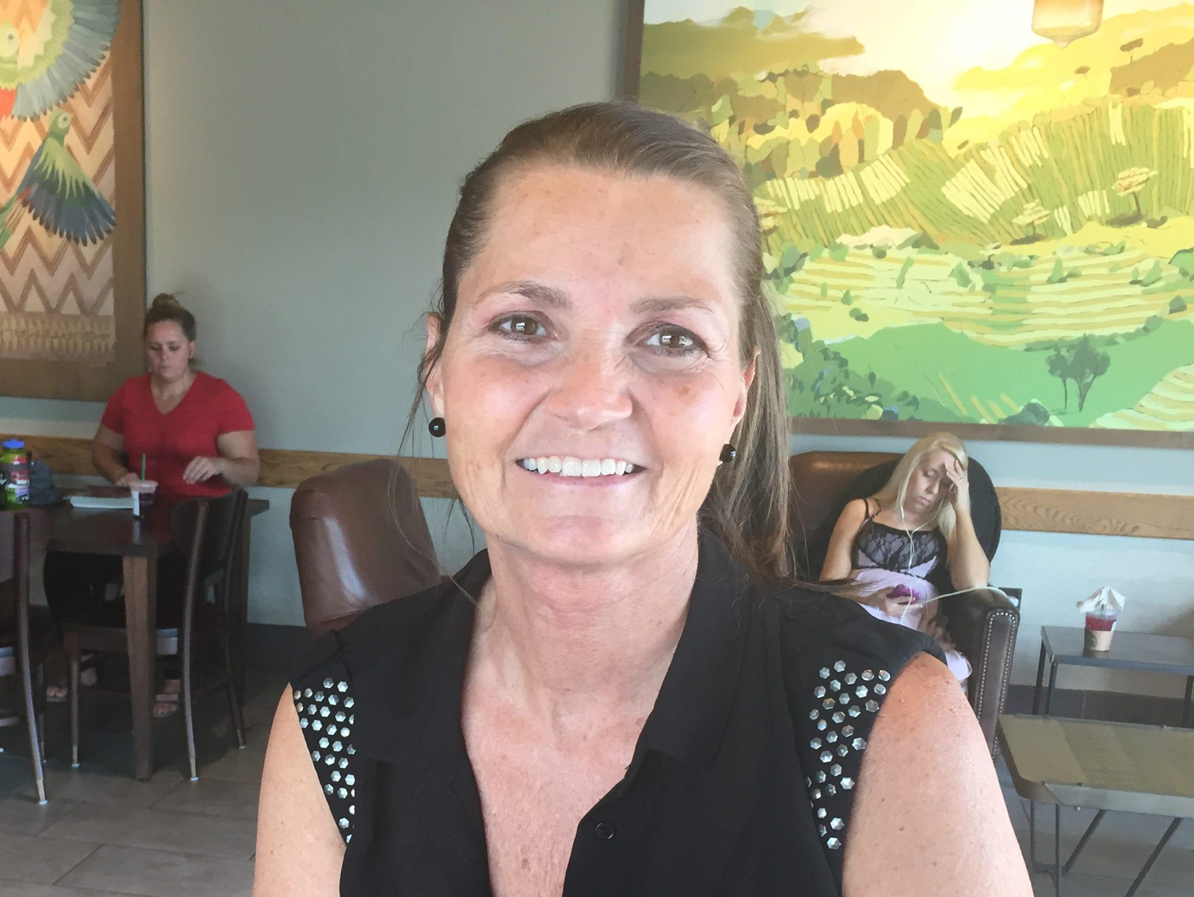 Arden resident Lisa Bradley wrecked in the I-26 construction