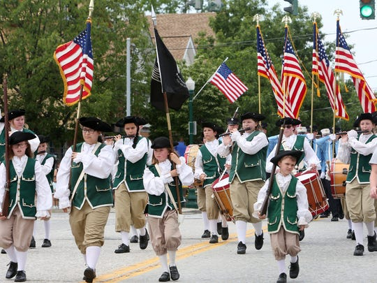 The Young Colonials marching band from Lake Carmel