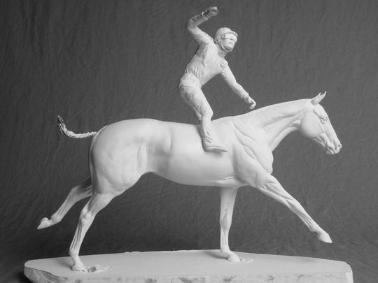 Still in production, Breyer will release a newly-crafted resin model of American Pharoah and jockey Victor Espinoza.