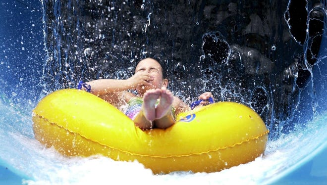 Roseland Waterpark in Canandaigua features 56 acres and nine attractions, including a 27,000-square-foot wave pool.