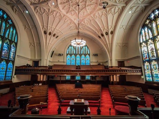 The naive of the Reid Memorial Presbyterian Church, 1004 N. A St., Richmond, is seen Wednesday, Nov. 29, 2017.