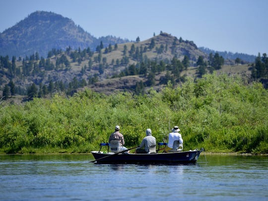 Anglers fly-fish the Missouri River below Craig in July. A new report says 33 percent fewer angling days are possible in Montana by 2050 if nothing is down to curb greenhouse gases.