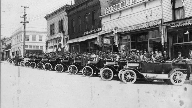 William Benbennick opened Bremerton's first car dealership, Bremerton Motor Co., in 1911, selling Ford and Chalmers-Detroit automobiles on Pacific. His father Albert Benbennick's real estate business was next door in office space shared with William Bremer. To see more photos from the Kitsap County Historical Society Museum archives, visit www.facebook.com/kitsaphistory, or stop by the museum at 280 Fourth St. in Bremerton. Call 360-479-6226 for information.