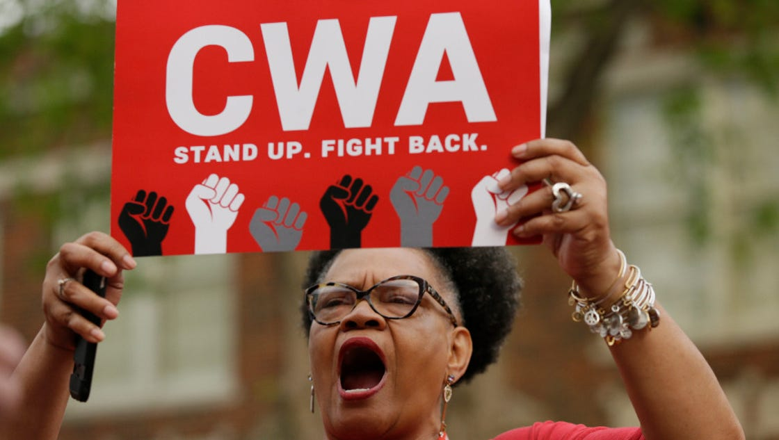 Up to 40,000 AT&T workers walking off job over contract rights