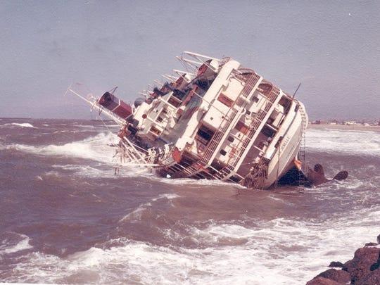 The La Jenelle sunk off the Oxnard coastline in 1970.