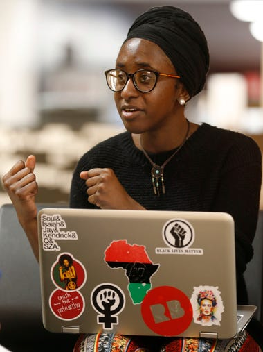 Ravyn Brooks discusses the reasons a group of students