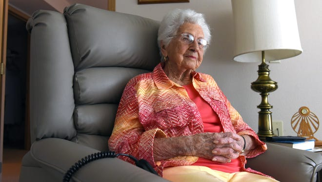 Janice Arcuri, a Crooksville native, is celebrating her 100th birthday today at Zanesville County Club.