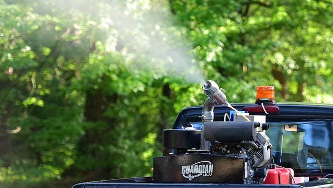 This is a file photo of pesticide being sprayed.