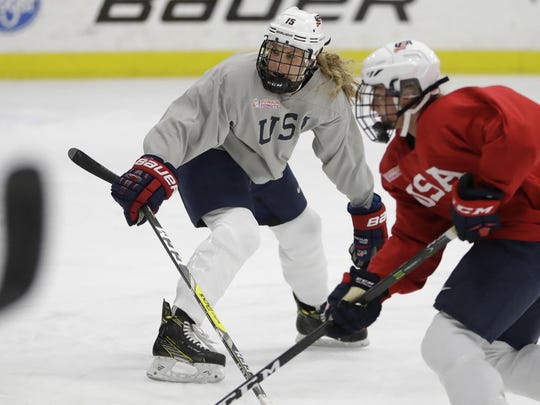 USA women's team members are seeking salaries of $68,000 per year and job benefits for IIHF games equal to those of the men's national team.