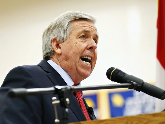 Missouri Lt. Gov. Mike Parson is a former Polk County sheriff who has served in the Missouri House and Senate.