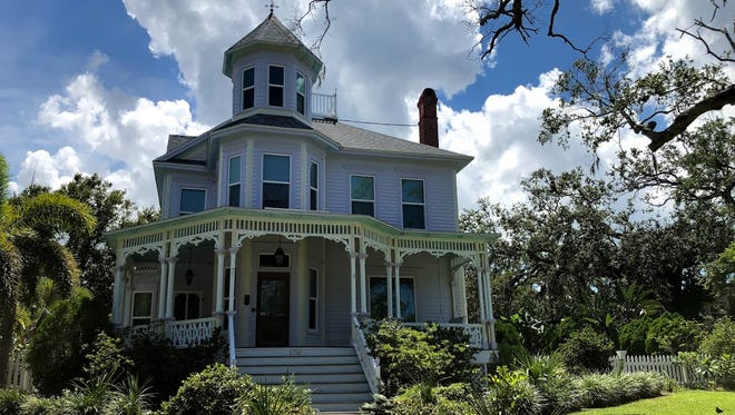 The William Gleason home along Pineapple Avenue is one of the area's beautiful historic homes.