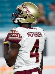 Florida State defensive back Tarvarus McFadden hopes