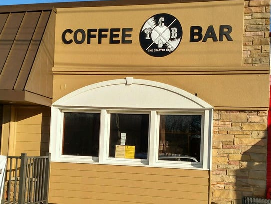 The Crafted Bean Coffee Co. is located at 116 N. Bridge