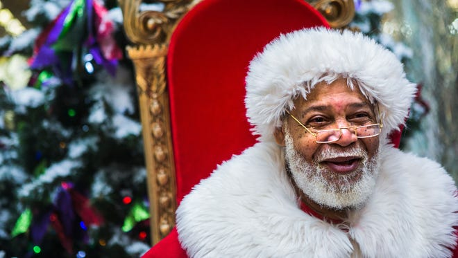 Raymond Conley has been portraying Santa Claus at Southland Mall in South Memphis for seven years.
