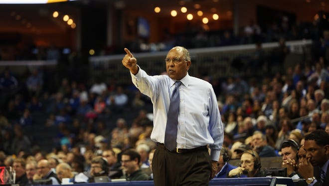 Memphis' Tubby Smith coaches against LSU during the second half at FedExForum on Thursday. The Tigers lost to LSU 71-61.