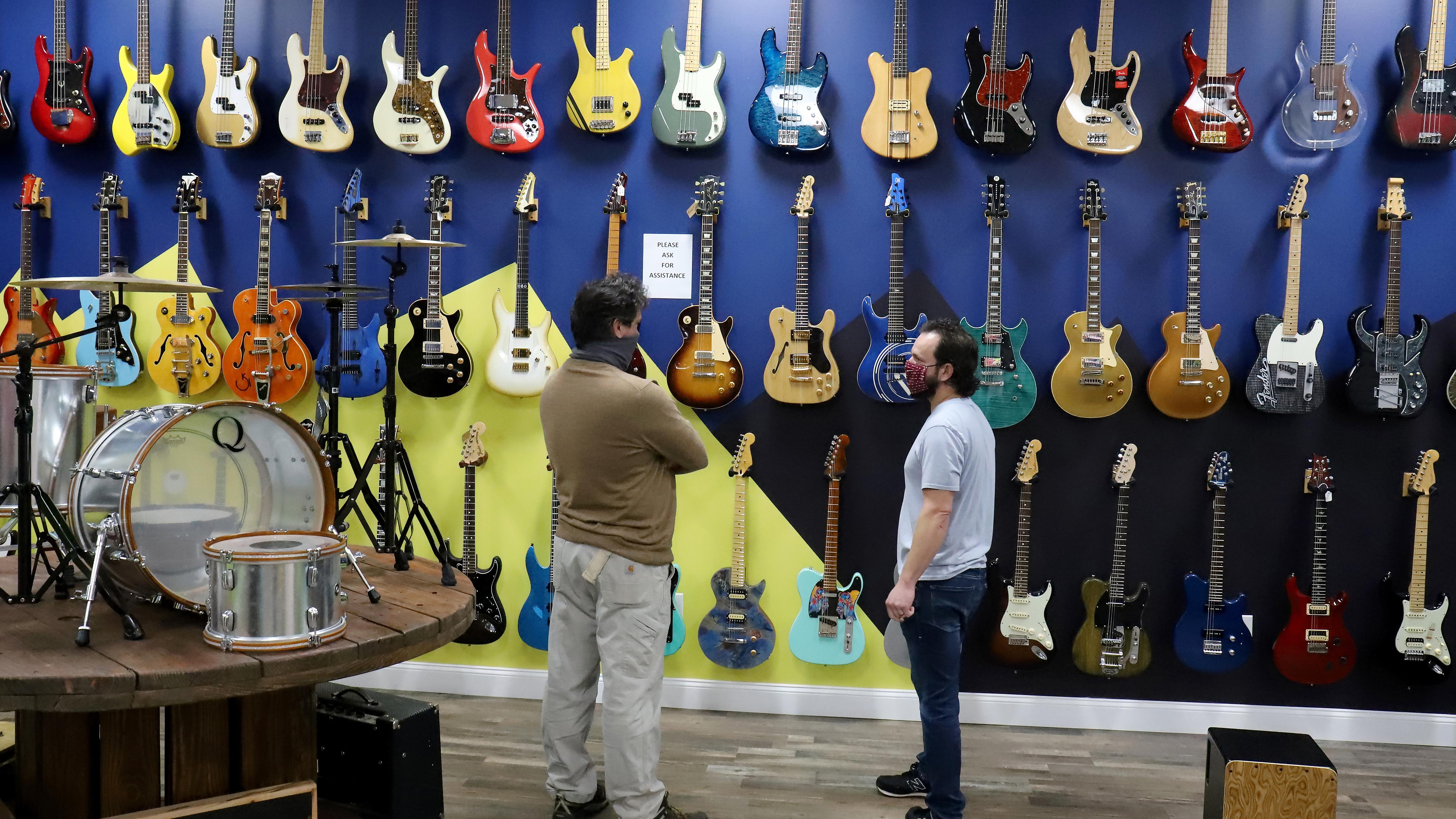 Vintage Vibes boasts more than 400 guitars, creative space
