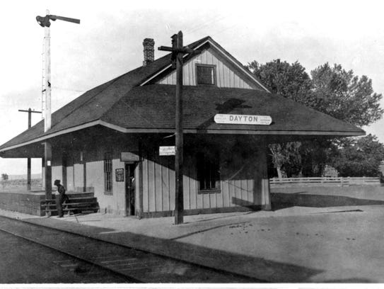 A photo of the depot from 1914.