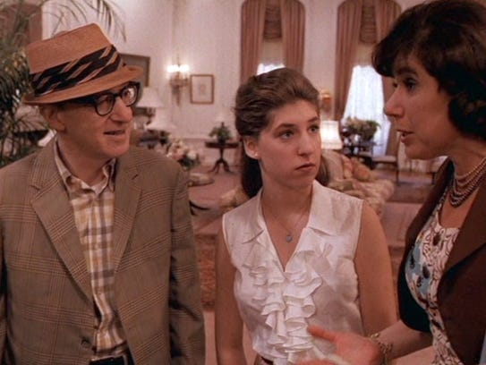 Woody Allen, Mayim Bialik and Julie Kavner in the TV