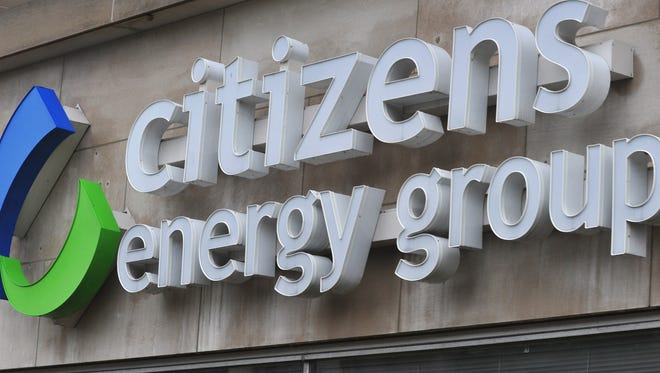 Citizens Energy Group logo on the building at 2020 N. Meridian St. in Indianapolis.