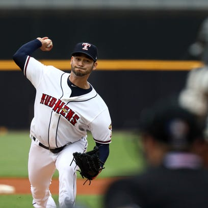 Detroit Tigers pitcher Anibal Sanchez throws for the
