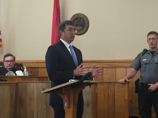 Defense Attorney Chase Smith admitted his client committed a crime but contends to jurors it was not first-degree murder.