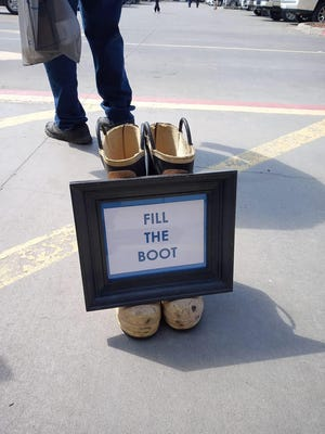 The Southern Oklahoma Emergency Services Foundation was at the Ardmore Lowe's Home Improvement store this weekend raising money for emergency personnel through its spin on the Fill the Boot Campaign. The nonprofit will be back on Saturday, April 18 to collect more donations.