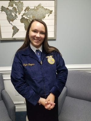 Taylor Rogers, WCH student finishes first in regional Creed Speaking Career Development Competition.