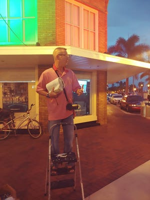 Tom Cabral, former pastor of Redemption Fellowship Church in Fall River, is shown hear conducting street evangelism in Fort Myers, Fla., about a block from where he was arrested while preaching this past Friday night.