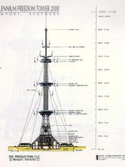 Original plans for the World Peace Bell site included a 1,200 foot tall tower