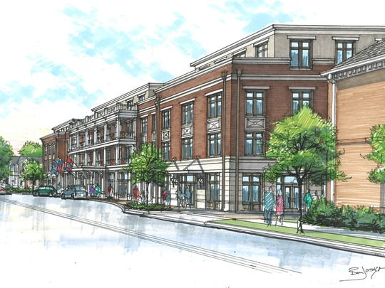 This rendering shows another side of the proposed Harpeth Square.