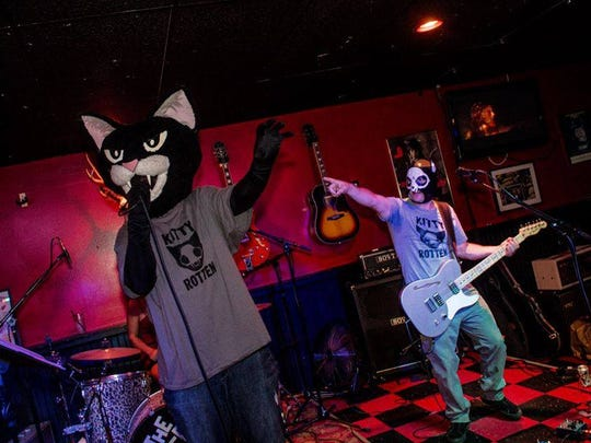 Kitty Rotten, Wilmington's only costumed, cat-themed garage rock act, will perform at Wilmington's Downtown Brewfest this weekend.