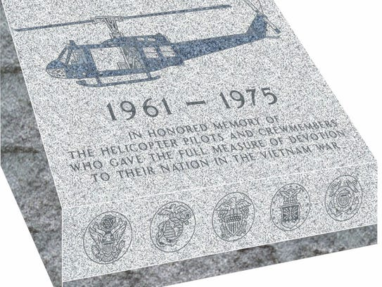 This monument for Vietnam helicopter crews who were