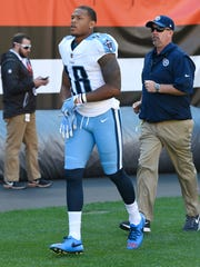 Titans wide receiver Rishard Matthews (18) joins the