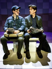 """Carson Elrod (left) and Rick Holmes in """"It's All Good,"""""""