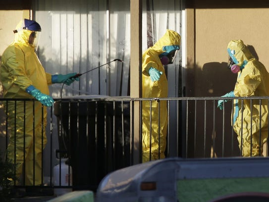 Hazardous material cleaners disinfectant their personal