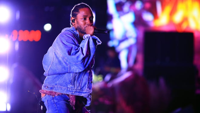 Kendrick Lamar performs with SZA during the 2018 Coachella Valley Music And Arts Festival at the Empire Polo Field on April 13, 2018 in Indio, California.