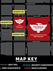 Phoenix Comic Fest map.