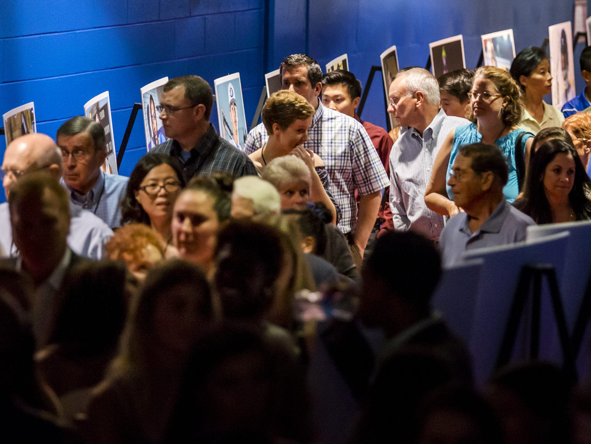Guests at the Delaware Sports Awards banquet make their way down the red carpet at the Bob Carpenter Center at the University of Delaware in Newark on Wednesday evening.