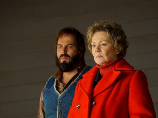 Angus Sampson, left, and  Jean Smart play members of