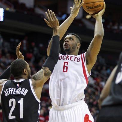 Feb 27, 2015; Houston, TX, USA; Houston Rockets forward