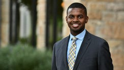 UC student body president Mitchell Phelps led a silent