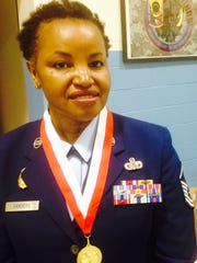 """Retired Air Force Master Sgt. Hope Sanders, said,""""It's"""