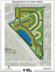 A rendering of the future Reserve at Cool Creek subdivision
