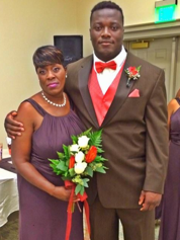 Green Bay Packers rookie defensive lineman Montravius Adams poses with his mother, Debbie Young.
