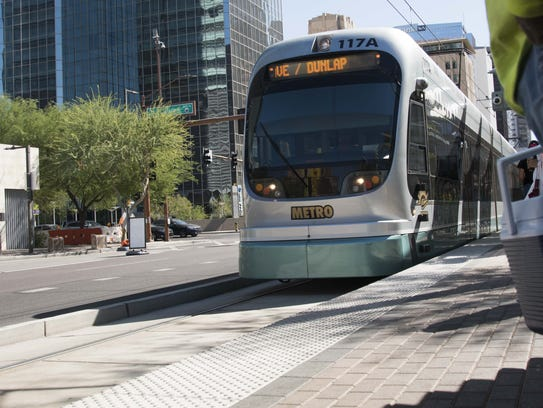 Residents use light rail during the afternoon hours