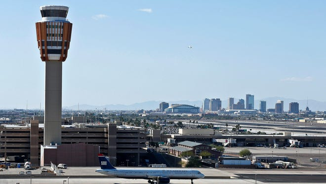 A Feb. 8, 2013, file photos of the Sky Harbor International Airport in Phoenix.