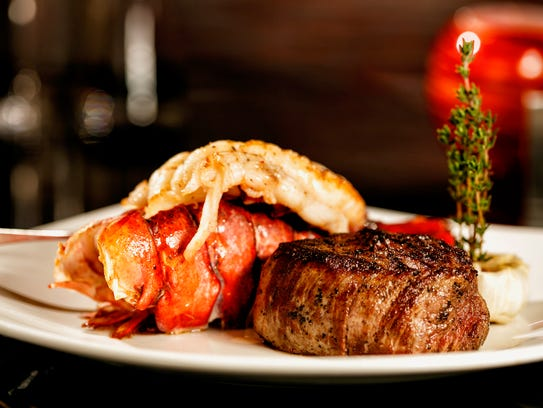 The surf n' turf at Char Steakhouse.