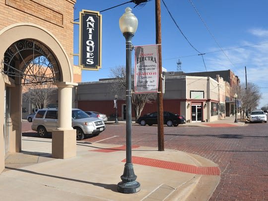 Electra's historic downtown area is bravely facing a downturn in both oil and agriculture, the city's two mainstays.