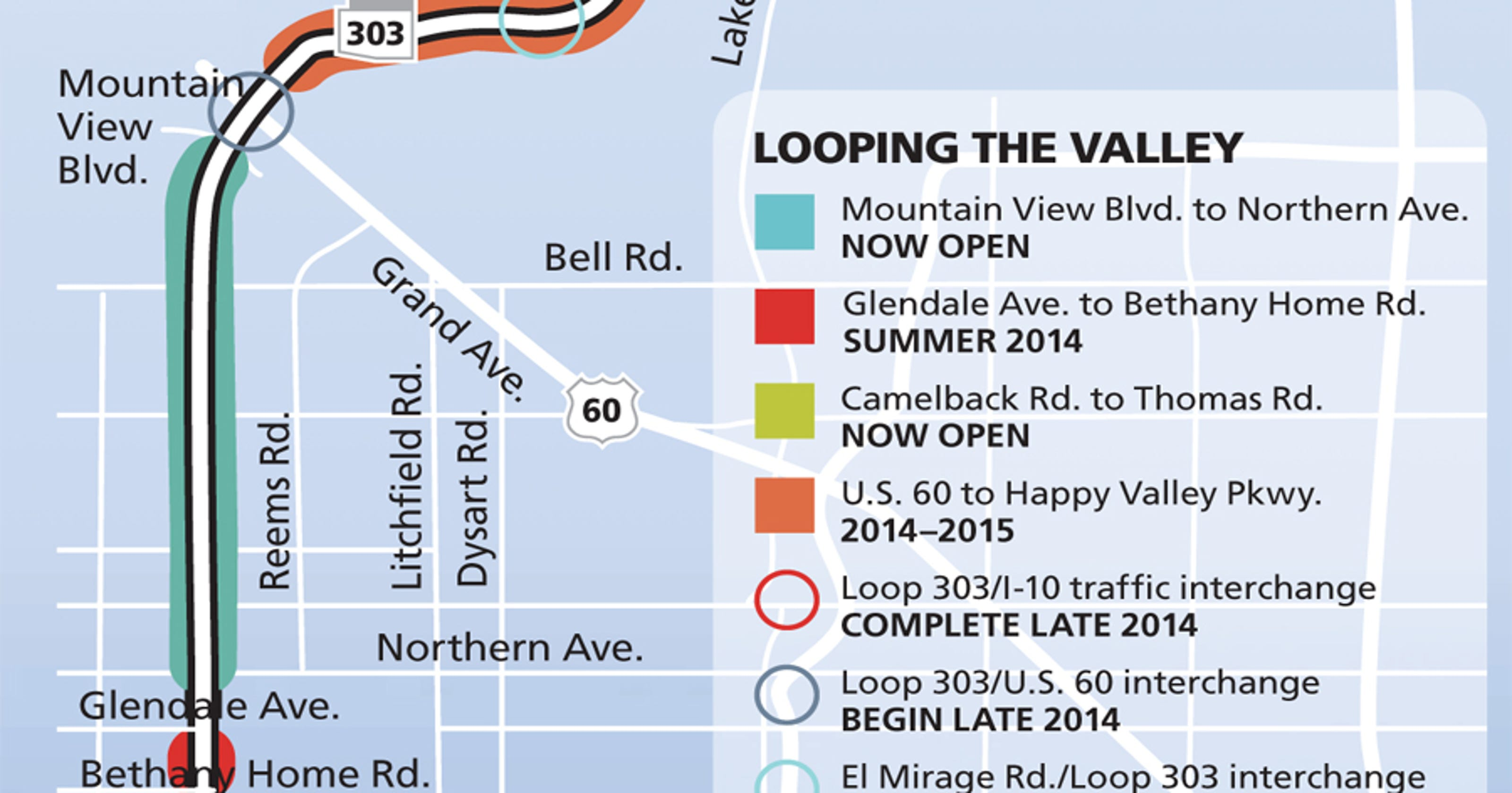 Map Of Loop 303 Arizona.Loop 303 Carves New West Valley Identity