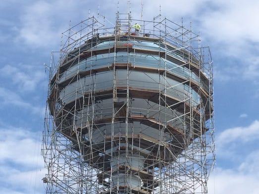 Falcon Field water tower in Mesa
